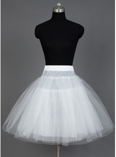 Women Nylon/Tulle Netting Short-length 3 Tiers Petticoats (037031013)