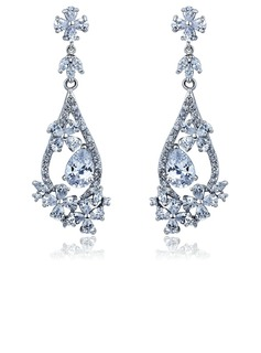 Beautiful Alloy With CZ Cubic Zirconia Ladies' Fashion Earrings (011036689)