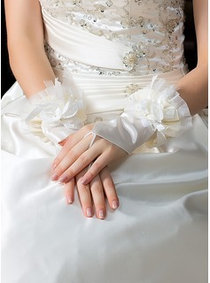 Elastic Satin Wrist Length Party/Fashion Gloves/Bridal Gloves (014036638)