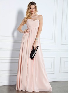 Empire Sweetheart Floor-Length Chiffon Evening Dress With Ruffle (017022510)