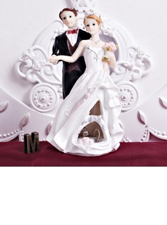 The Newlywed Resin Wedding Cake Topper (122036161)