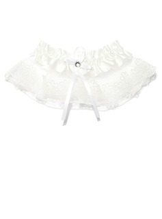 Gorgeous Lace With Ribbons Beading Wedding Garters (104034379)