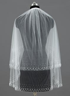 Due strati Velare da sposa gomito con Bordo tagliato (006035478)