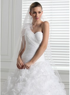 Two-tier Chapel Bridal Veils With Pencil Edge (006003967)