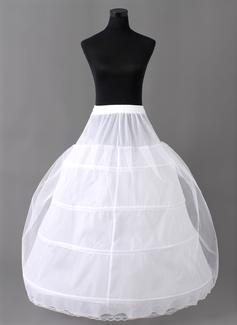 Women Nylon/Tulle Netting Floor-length 2 Tiers Petticoats (037004073)