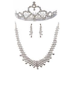 модное сплав с горный хрусталь женские Комплекты ювелирных изделий (011027431)