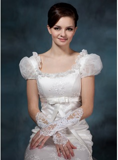 Satin Elbow Length Bridal Gloves (014020516)