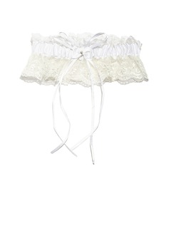 Delicate Lace With Rhinestone Wedding Garters (104053180)