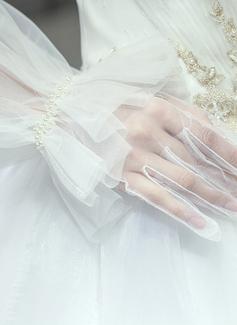 Тюль/Кружева локоть длина Свадебные перчатки (014200785)