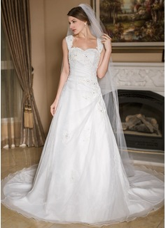 Een-rij Potlood Rand Kathedraal Bruids Sluiers (006024551)