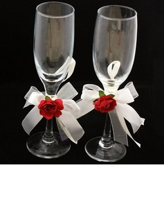 Elegant Lead-free Glass Toasting Flutes (Set Of 2) (126032338)