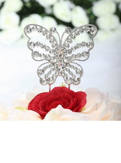 Beautiful Butterfly Chrome Bridal Shower Cake Topper (119030818)