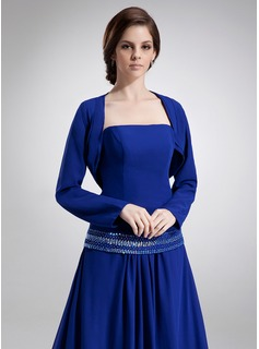 Long Sleeve Chiffon Special Occasion Wrap (013016905)