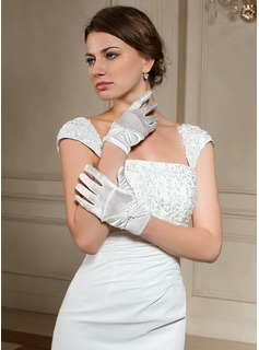 Elastic Satin Wrist Length Party/Fashion Gloves/Bridal Gloves (014024481)