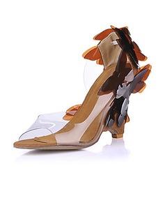 Plast Kilklack Sandaler Kilar med Blomma skor (087015260)