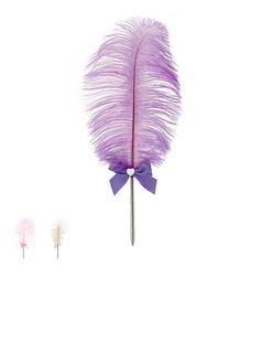 Belle Strass/Bow/Plumes Ensemble de crayon (101020366)