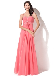 Empire Sweetheart Floor-Length Chiffon Prom Dresses With Ruffle Beading Sequins (018055006)