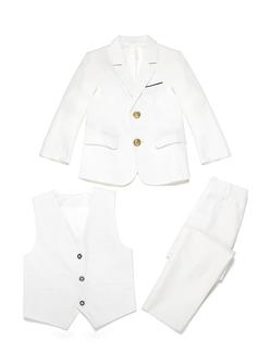 Rapazes 3 peças Elegante Roupas de Pajem /Ternos Menino Página com Jaqueta Oeste calça (287199768)