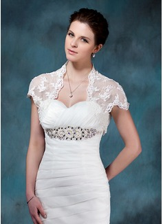 Kurze Ärmel Lace Hochzeit Bolero (013004983)