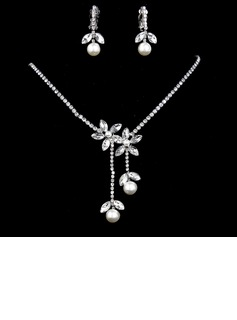 Gorgeous Alloy/Rhinestones With Pearl Women's Jewelry Sets (011017101)