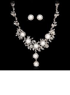 Сияющий сплав/жемчуг с хрусталь женские Комплекты ювелирных изделий (011027557)
