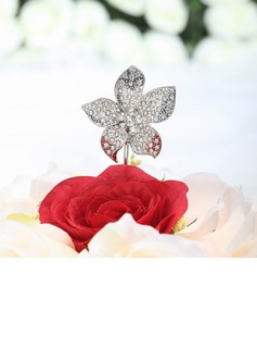 Flower Shaped Chrome Wedding Cake Topper (119030820)
