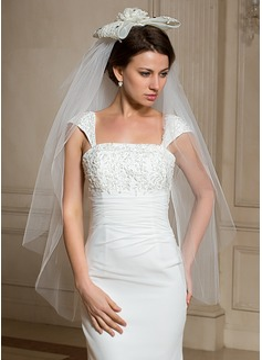 Four-tier Fingertip Bridal Veils With Cut Edge (006024469)
