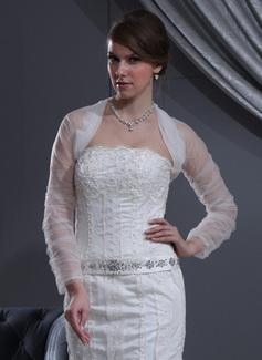 Lange Mouw Tule huwelijk Wrap (013022587)
