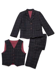 Ragazzi 3 pezzi Tartan Abiti per Paggetti /Page Boy Suits con Giacca ovest Pantaloni (287199751)