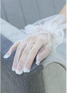 Тюль/Кружева локоть длина Свадебные перчатки (014200781)