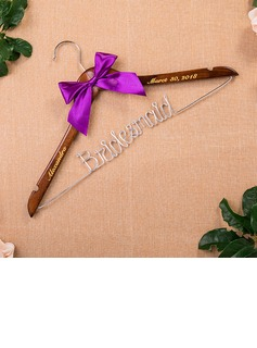 Bridesmaid Gifts - Personalized Beautiful Classic Wooden Hanger (256176247)
