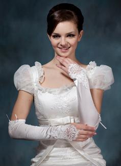 Spandex Kleur Opera Lengte Bruids Handschoenen (014020522)