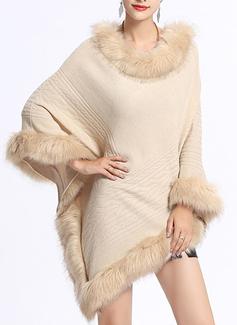 Холодная погода вязание Пончо (204189051)
