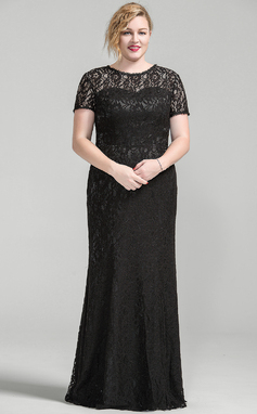 Trumpet/Mermaid Scoop Neck Floor-Length Lace Mother of the Bride Dress (008077024)