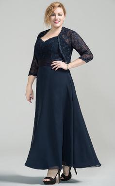 Vestidos princesa/ Formato A Amada Longuete Tecido de seda Renda Vestido para a mãe da noiva (008077030)
