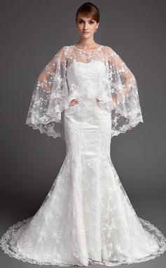 Forme Sirène/Trompette Bustier en coeur Traîne mi-longue Dentelle Robe de mariée (002004747)