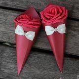 Doce Amor/Design floral Altro Papel cartão Potes de Doces e Garrafas com fecho de correr/Arco (conjunto de 20) (050197414)
