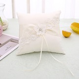 Elegant/Delicate Satin Ring Pillow With Ribbons (103201152)