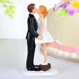 Kussend Paar Hars Huwelijk Taarttoppers (122036162)