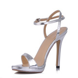 Vrouwen Patent Leather Stiletto Heel Sandalen Slingbacks (047015248)