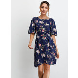 A-Line Scoop Neck Knee-Length Homecoming Dress (022209569)