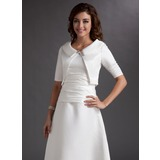 Half-Sleeve Satin Special Occasion Wrap (013012412)