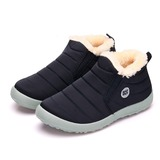 Donna Tessuto Senza tacco Stivali scarpe (088184639)
