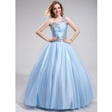 Ball-Gown One-Shoulder Floor-Length Charmeuse Prom Dresses With Ruffle Beading (018025293)
