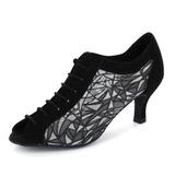 Женщины нубук На каблуках На каблуках Практика Обувь для танцев (053020413)