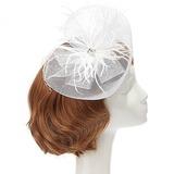 Elegant Netto garen/Feather Fascinators met Kristal (042057568)