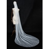 One-tier Cut Edge Chapel Bridal Veils (006189449)