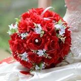 специальный Круглый атласная Свадебные букеты (124032105)