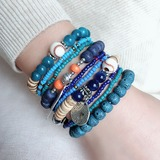 Stylish Alloy Resin With Resin Unisex Fashion Bracelets (Sold in a single piece) (137193022)