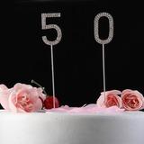 Brillante Strass Numero Cromo Anniversario Decorazioni per torte (119031364)